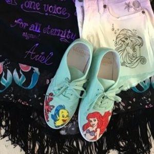 Disney Ariel Little Mermaid Turquoise Canvas Shoes
